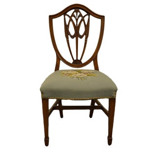 1960's Vintage Duncan Phyfe Shield Back Dining Side Chair For Sale