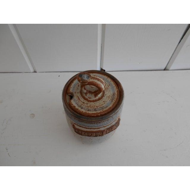 Rustic Pottery Honey Pot - Image 5 of 8