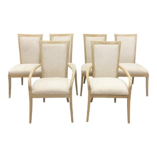 Vintage Hickory White Dining Chairs - Set of 6 For Sale