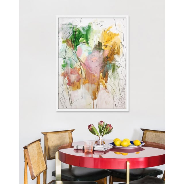 Giclée on textured fine art paper with white frame. Unframed print dimensions: 24.75x33.75. Leslie Weaver is a mixed media...