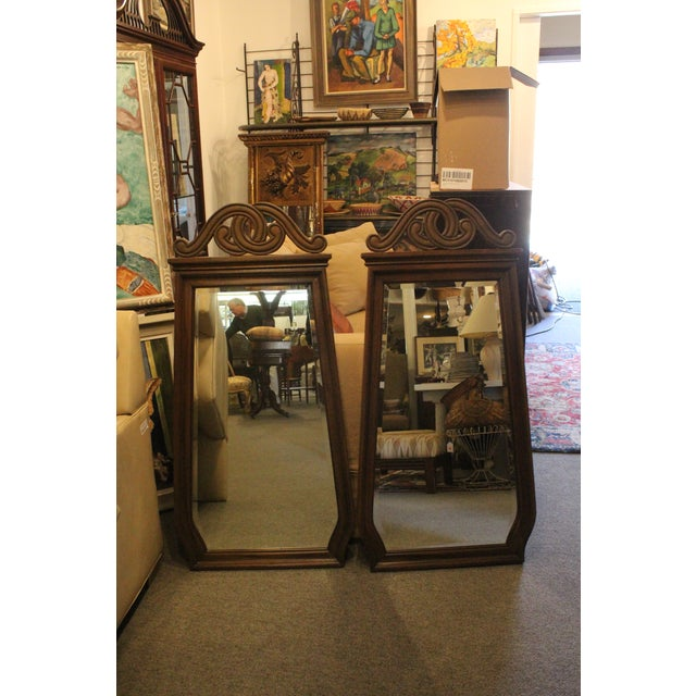 Mid 20th Century Art Nouveau Style Wall Mirrors - a Pair For Sale - Image 5 of 6