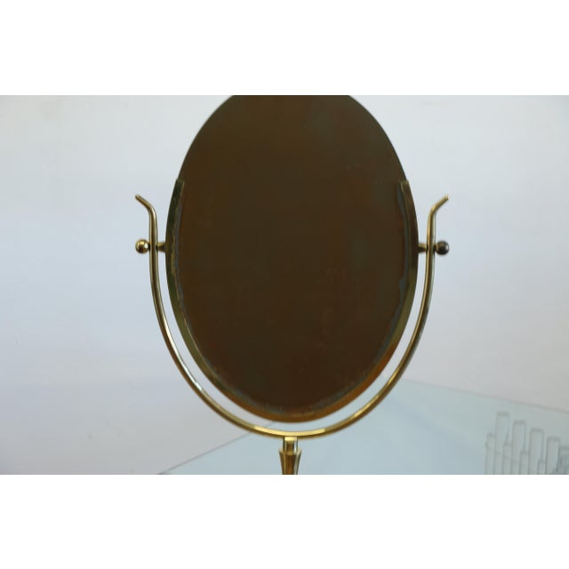 Brass Wishbone Vanity Mirror by Charles Hollis Jones For Sale - Image 8 of 12