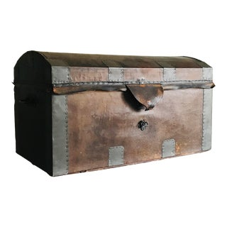 Late 19th Century Leather Trunk For Sale