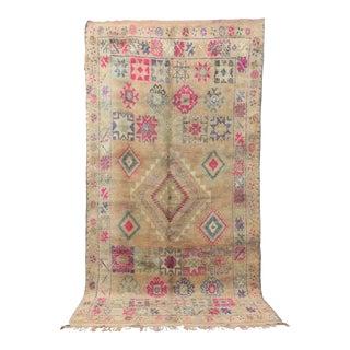 "Boujad Vintge Moroccan Rug, 6'8"" X 13'0"" For Sale"