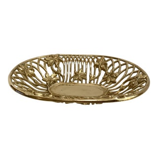 Heavy Solid Brass Art Deco Style Bowl