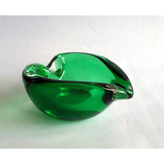 Vintage Murano Curled Leaf Dish For Sale - Image 10 of 11