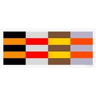 """Four Moods Eight Colors Fine Art Print 20"""" X 47 1/2"""" by Liz Roache For Sale"""