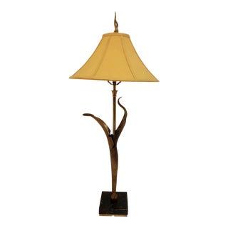1950's Mid-Century Modern Chapman Brass Abstract Art Table Lamp