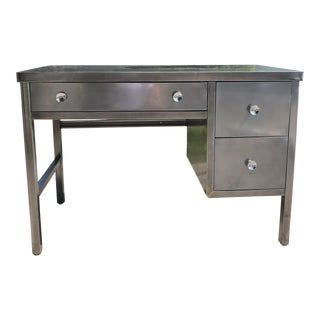 Mid-Century Modern Simmons Norman Bel Geddes Style Metal Desk