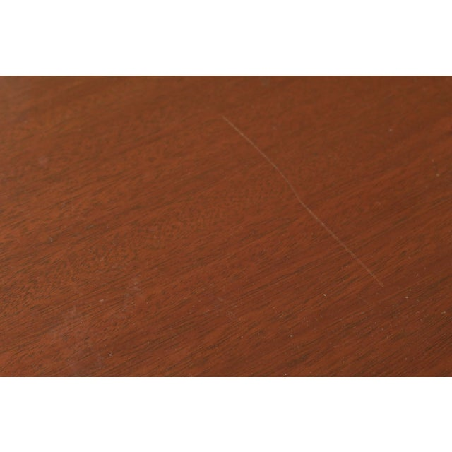 Brown Biggs 3 Piece Inlaid Mahogany Nesting Stack Tables For Sale - Image 8 of 10
