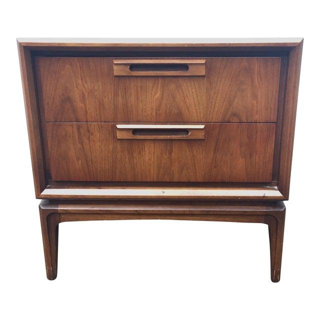 Vintage Modern Walnut Nightstand - Image 1 of 8