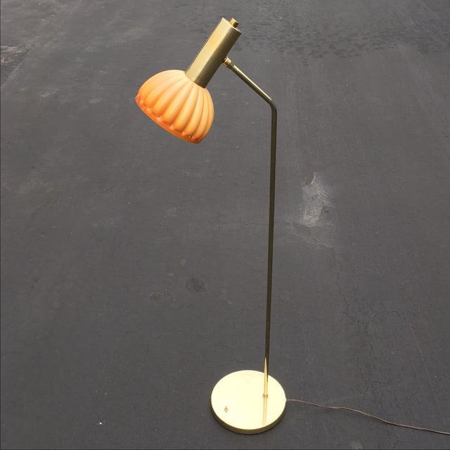 Mid-Century Brass & Acrylic Floor Lamp - Image 2 of 9