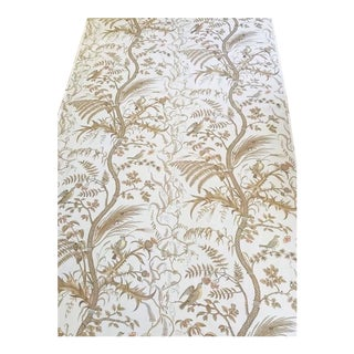 "Brunschwig & Fils ""Bird and Thistle"" Cotton Print Beige Fabric - 3.75 Yards For Sale"