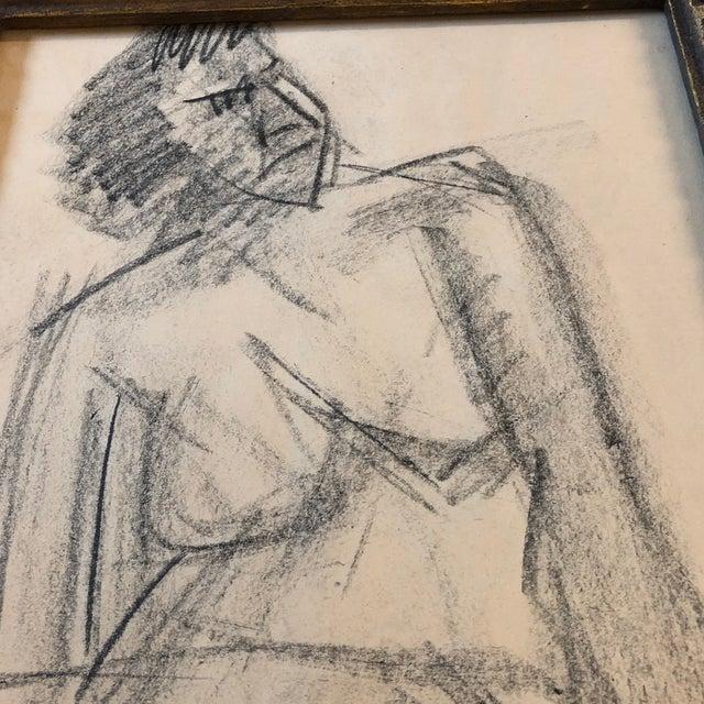 Original Charcoal Vintage Female Nude Study Sketch For Sale In Philadelphia - Image 6 of 7