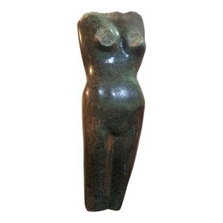 Eleanor Notkin Marble Figurative Nude Sculpture For Sale