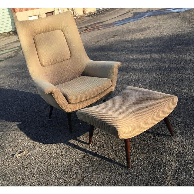 Mid-Century Modern Lawrence Peabody for Selig Holiday Group High Back Chair For Sale - Image 3 of 5