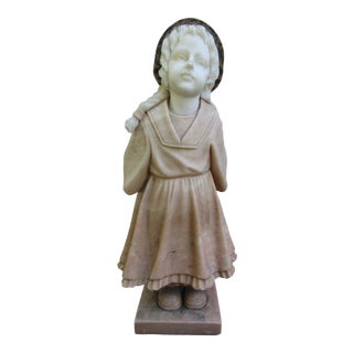 Beautiful Granite Statue of Girl For Sale