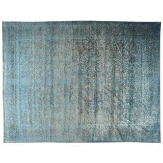 Vintage Silk Rug - 13′8″ × 17′8″ For Sale