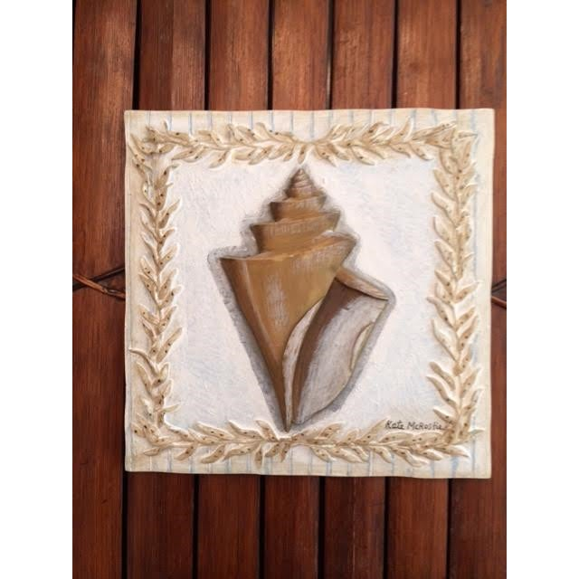 Nautical Kate McRostie Shell Wall Plaques - Set of 4 For Sale - Image 3 of 6
