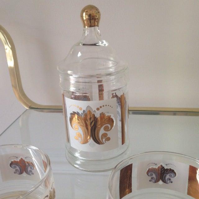 Vintage Fleur De Lis Jar and Bowl Set - Image 3 of 4