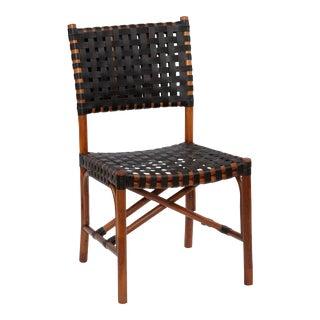 Malibu Side Chair, Chocolate, Rattan For Sale