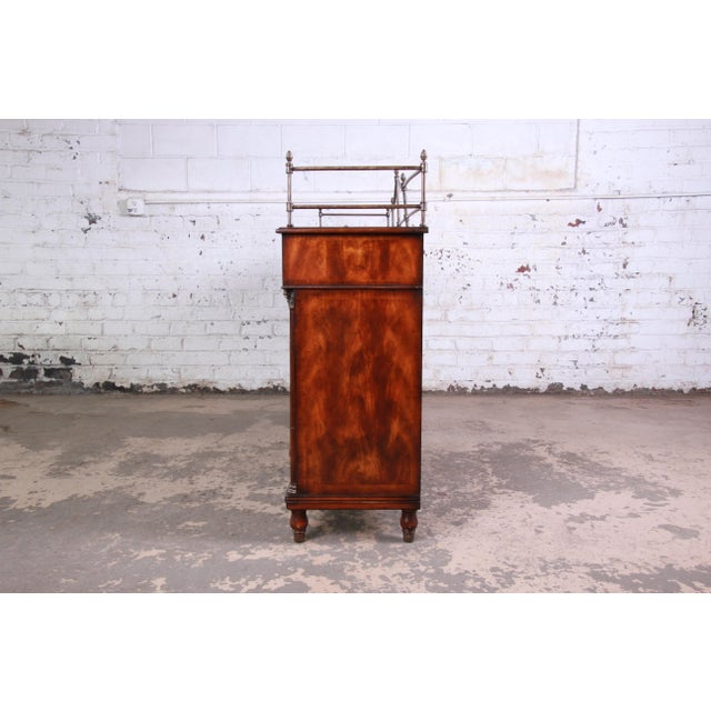 Theodore Alexander Regency Style Flame Mahogany Sideboard or Bar Cabinet For Sale - Image 10 of 13