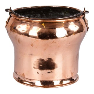 19th Century French Copper Bucket For Sale