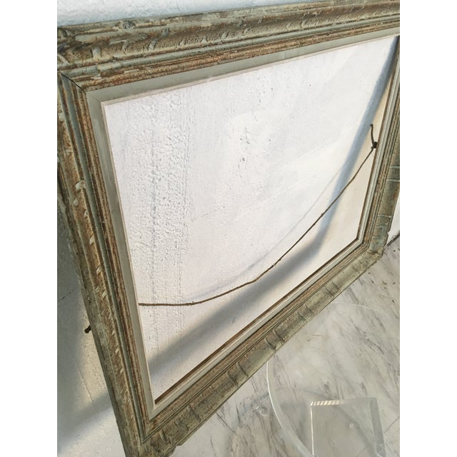 This vintage frame is stunning in a light blue with off white accents! It will be as beautiful as the art that you put in it!