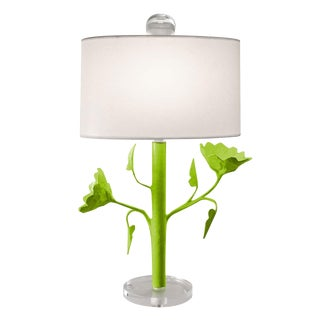 Green Jarmin Flower Table Lamps by Stray Dog - a Pair