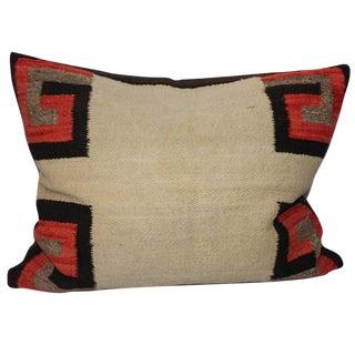 19th Century Navajo Saddle Blanket Weaving Pillow