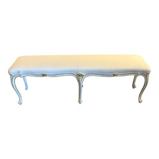 1990s Italian Hand Carved Louis XV Style Bench For Sale