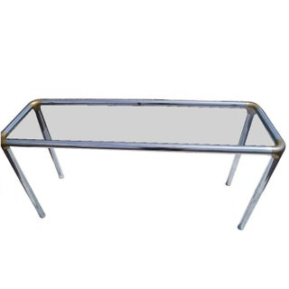 Maison Jansen Style Glass and Chrome Console Table Preview