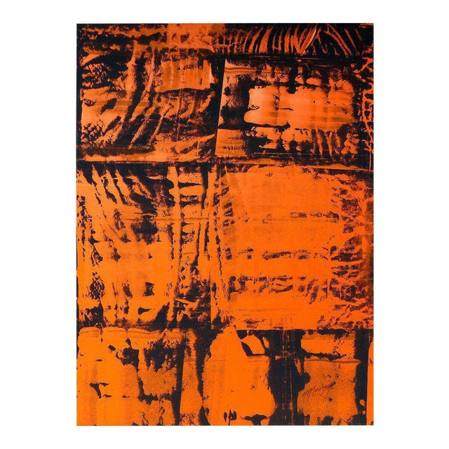 Overscale Abstract Painting by Brazilian Artist Norberto Noschang For Sale