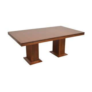 Stickley 21st Century Collection Cherry Double Pedestal Dining Table For Sale