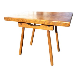 Mid Century Modern Monterey Style Solid Wood Side Table/Writing Desk For Sale