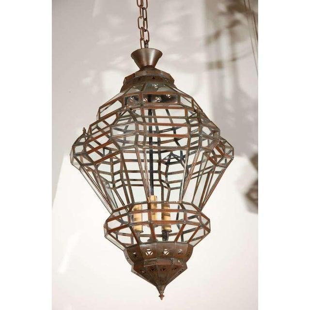 Granada Moroccan Clear Glass Pendant For Sale - Image 10 of 10