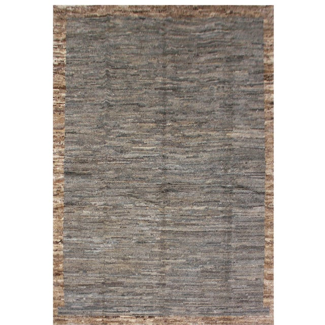 Image of Aara Rugs Inc. Moroccan Inspired Hand-Knotted Rug - 5′10″ × 8′6″