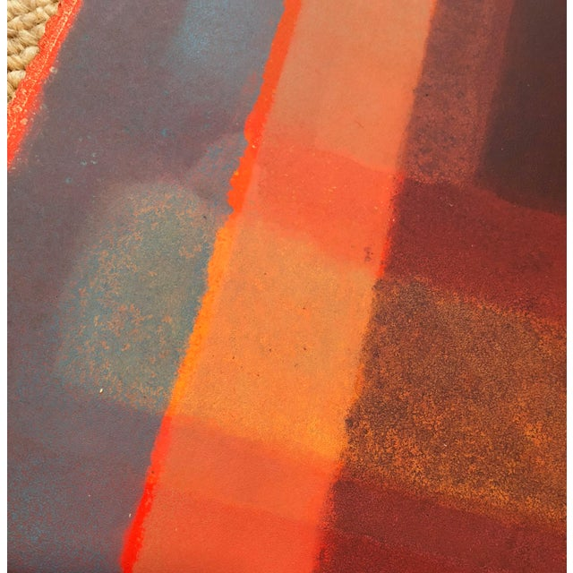 1980s Vintage Mariko Nutt Abstract Monoprint For Sale In Saint Louis - Image 6 of 9
