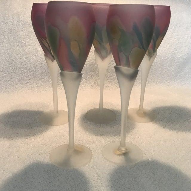 Rueven Art Nouveau Champagne Flutes - Set of 5 - Image 6 of 11