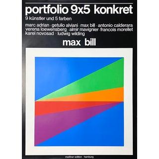 1970s Max Bill Portfolio 9 X 5 Konkret Op Art Exhibition Poster For Sale