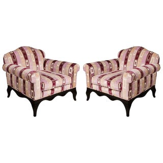 1960s Vintage French Armchairs- A Pair For Sale
