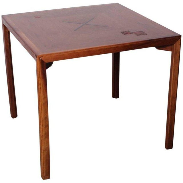 Edward Wormley for Dunbar Game Table with Natzler Tiles For Sale - Image 11 of 11