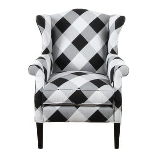 Black and White Check Bradford Armchair