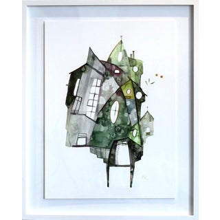 """Green House"" Original Painting by Maria C Bernhardsson For Sale"