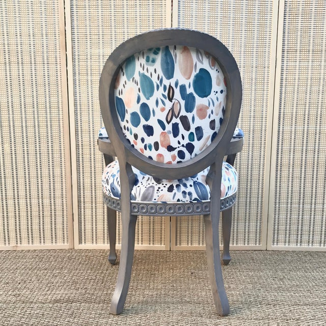 Louis XVI Grey Chair For Sale - Image 4 of 8