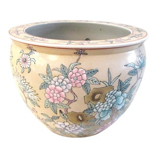 1980s Chinese Botanical Jardiniere For Sale