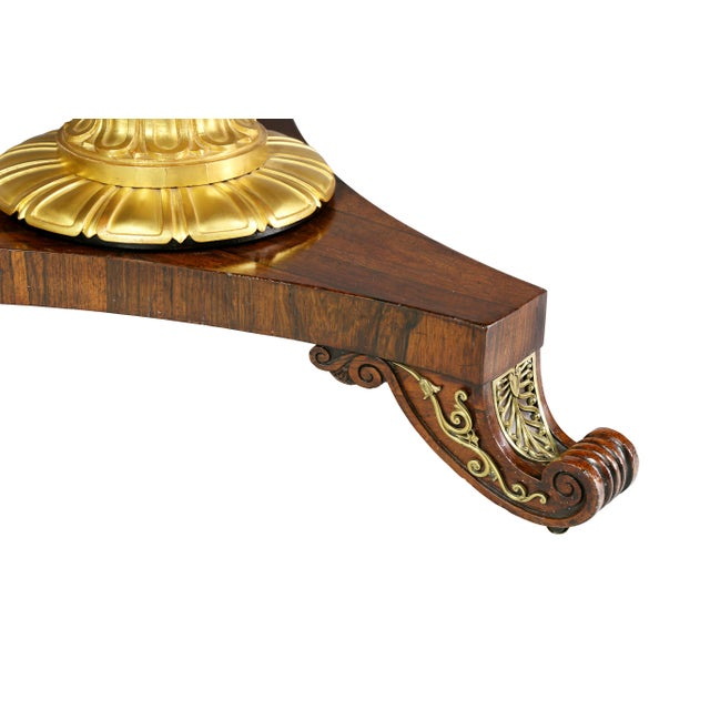 Brass Fine Regency Rosewood and Inlaid Centre / Breakfast Table For Sale - Image 7 of 9