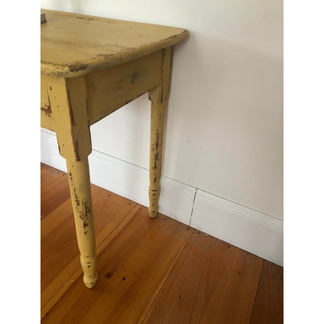 Late 20th Century Antique Distresses French Style Farm Table For Sale - Image 5 of 11