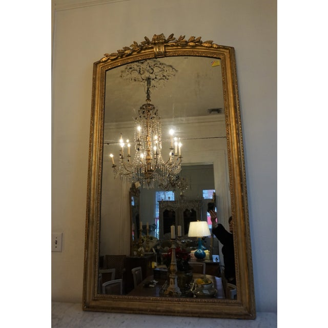 Metal 19th Century Louis XV Trumeau Mirror For Sale - Image 7 of 8