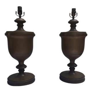 Chapman Brass Urn Lamps, a Pair For Sale
